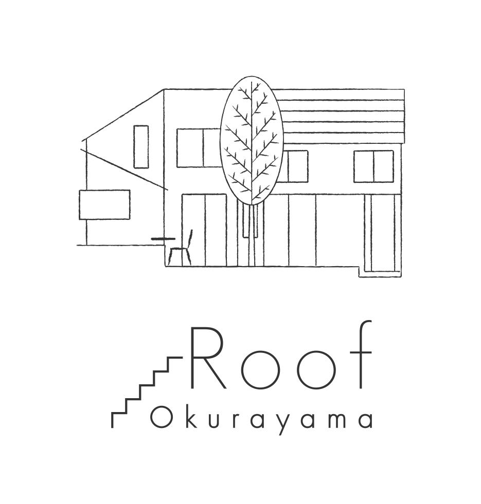 カフェ「Roof Okurayama 」ロゴ / ロゴマーク