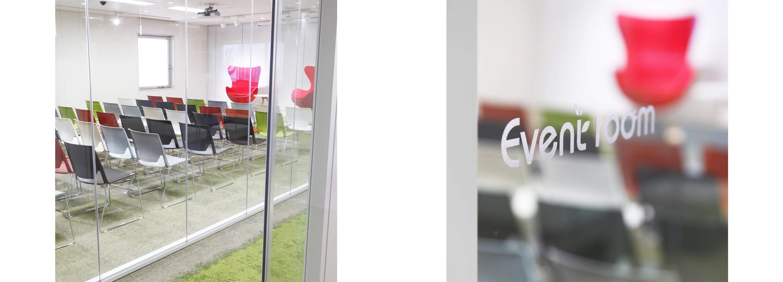 シェアオフィス ルームサインデザイン