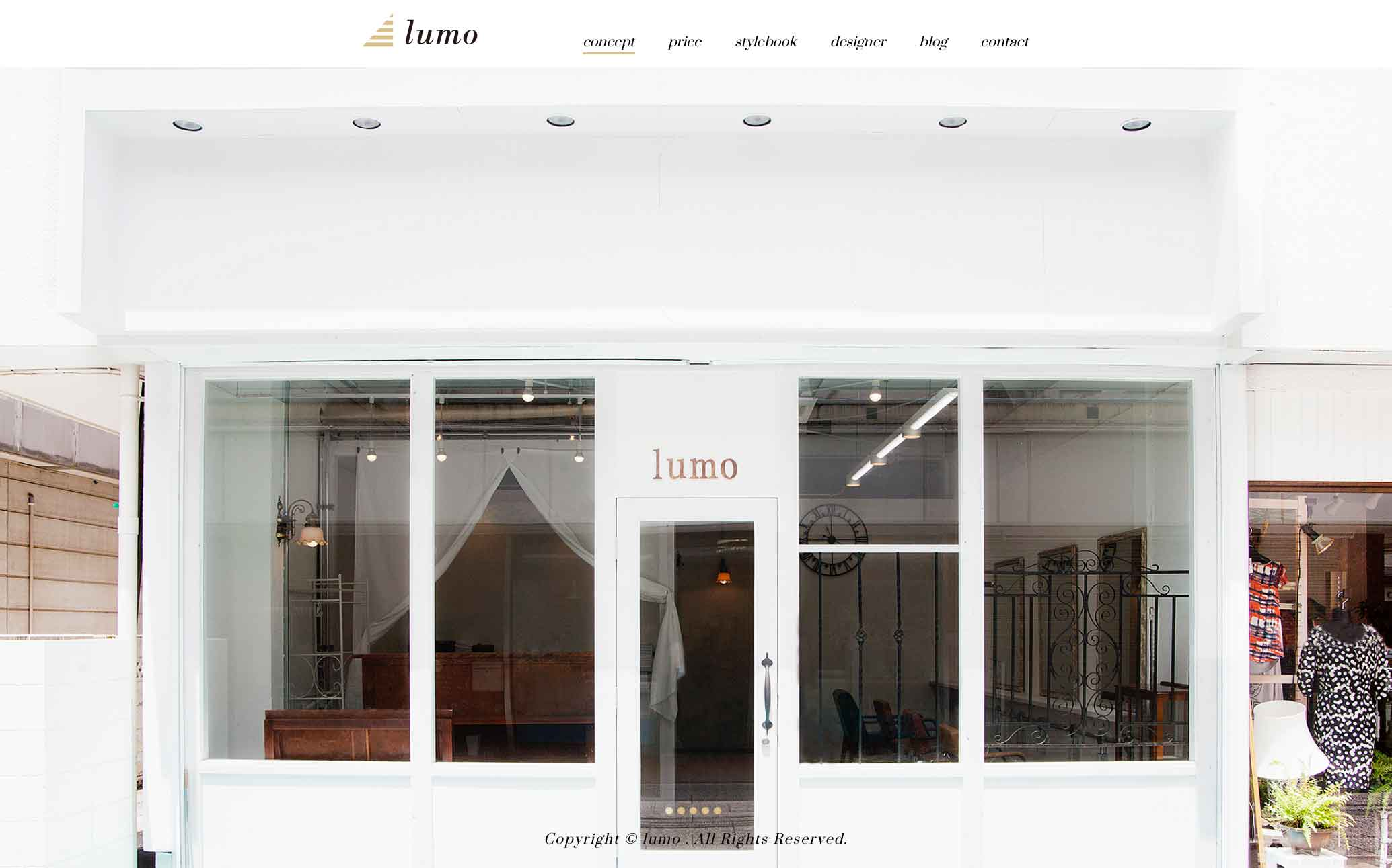 lumo | 美容室 | ウェブサイト リニューアル