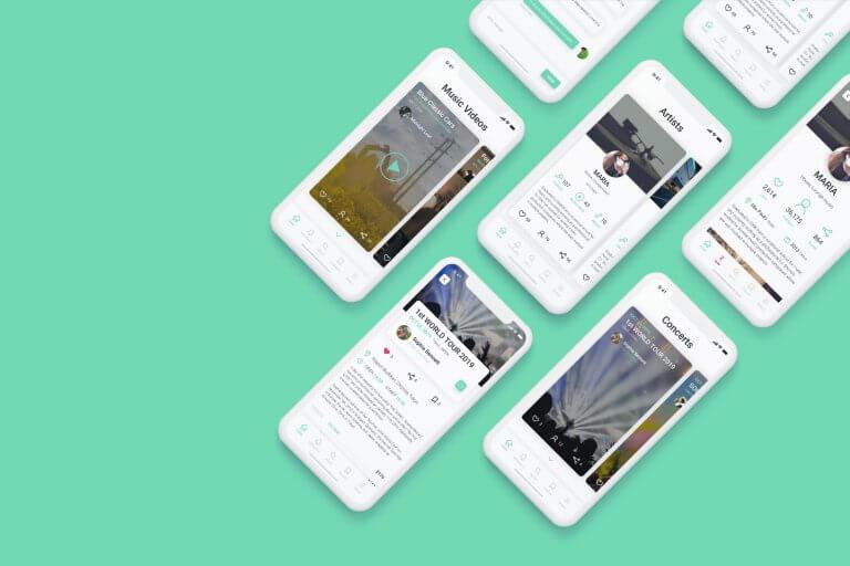 ミュージシャン向けスマートフォンアプリ(仮想) UI/UX デザイン